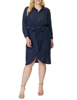 Tie Front Shirtdress (Plus Size) by Rebel Wilson X Angels