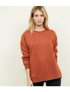 Rust Oversized Sweatshirt by New Look