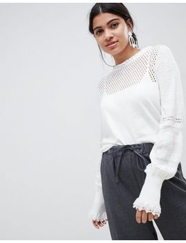 Suncoo Knitted Balloon Sleeve Top by Suncoo