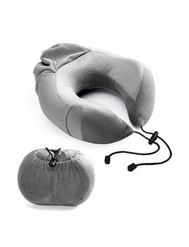 Cloudwing Travel Pillow   U Shape Portable Memory Foam Neck Pillow Best For Airplane Travel,Driving,Studying,Working,Home And Camping,Removable And Washable Soft Velour Cover (Grey) by Cloudwing