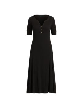 Cotton Fit And Flare Dress by Ralph Lauren