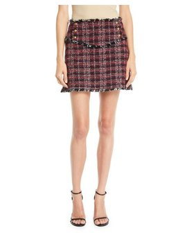 Tweed Fringe Mini Skirt by Neiman Marcus