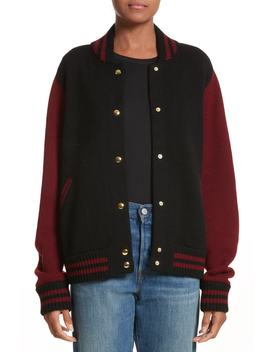 Wool & Cashmere Knit Varsity Jacket by Marc Jacobs