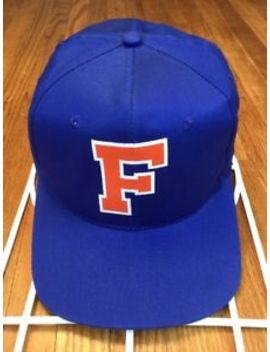 Vtg Gatorade Florida Snapback Hat Adjustable Cap Blue Orange Big Logo by Ebay Seller