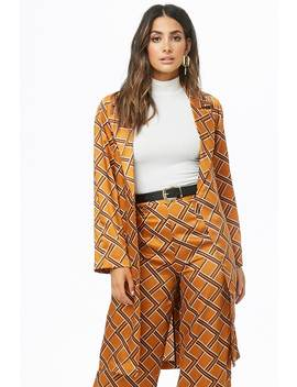 Geo Print Satin Duster by Forever 21