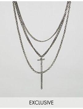 Reclaimed Vintage Inspired – Mehrreihige Halsketten In Polierter Silberoptik – Exklusiv Nur Bei Asos by Reclaimed Vintage