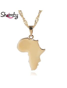 Shamty Africa Map Necklace Pendant New Gold Color Jewelry Brand Fashion Jewelry D30099 by Shamty