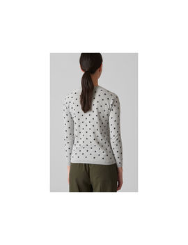 Star Print Crew Neck Knit by Whistles