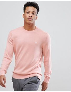 Abercrombie & Fitch Core Icon Moose Logo Crewneck Sweatshirt In Light Pink by Abercrombie & Fitch
