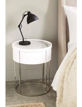 Sloane Marble Bedside Table by Next