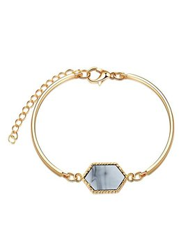 Loweryeah New Alloy Geometric Fashion Simple Bracelet  1 by Loweryeah