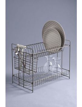 2 Tier Galvanised Dish Drainer by Next