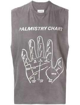 Maison Margiela Palmistry Chart Tank Tophome Men Maison Margiela Clothing Vests & Tank Tops by Maison Margiela