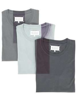 Maison Margiela3 Pack T Shirtshome Men Maison Margiela Clothing T Shirtsperforated T Sneakers3 Pack T Shirts by Maison Margiela
