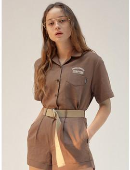 Linen Pocket Shirt Brown by Sculptor