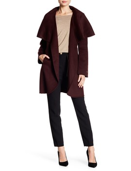 Marla Wool Blend Oversized Collar Jacket by Tahari