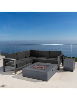 Cape Coral Outdoor Aluminum 5 by Christopher Knight Home