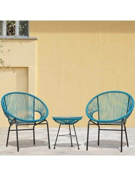 Sarcelles Woven Wicker Patio Chairs By Corvus (Set Of 2) by Corvus