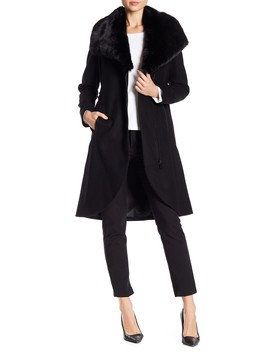 Tulip Faux Fur Lapel Coat by French Connection