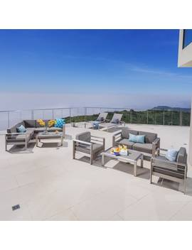 Cape Coral Outdoor Aluminum 10 by Christopher Knight Home