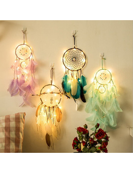 Dream Catcher Dreamcatcher 2 Meter 20 Led Lighting Girl Room Bell Bedroom Romantic Hanging Decoration by Ishowtienda