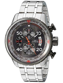 Invicta Men's 17204 Aviator Stainless Steel Casual Watch by Invicta