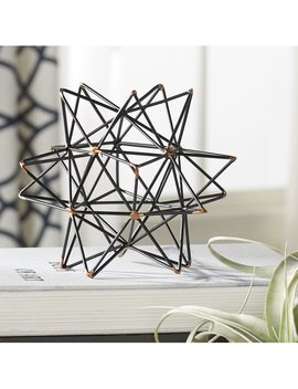 Mercury Row Wire Star Black/Gold Iron Sculpture & Reviews by Mercury Row
