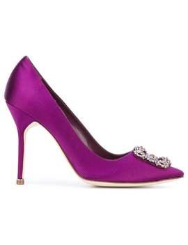 Manolo Blahnik Hangisi 105 Pumpshome Women Manolo Blahnik Shoes Pumps by Manolo Blahnik