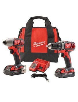 Milwaukee 2691 22 18 Volt Compact Drill And Impact Driver Combo Kit by Milwaukee