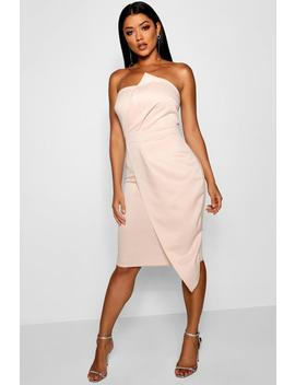 Zoey Bandeau Wrap Detail Midi Dress by Boohoo