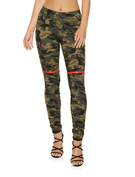 Ruched Camo Jeggings by Rainbow