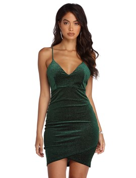 Velvet Stunner Mini Dress by Windsor