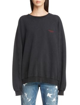 Embroidered Logo Sweatshirt by Acne Studios