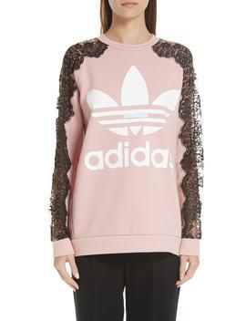 lace-inset-adidas-logo-sweatshirt by stella-mccartney