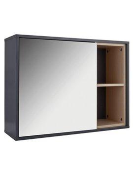 Hygena 1 Door Mirrored Wall Cabinet   Grey by Argos