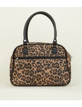 Brown Leopard Print Cabin Bag by New Look