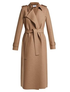 Layered Wool Trench Coat by Harris Wharf London