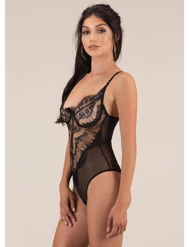 Lesson In Lace Underwire Bodysuit by Go Jane