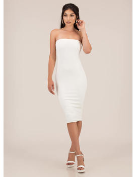 You're Everything Rib Knit Tube Dress by Go Jane