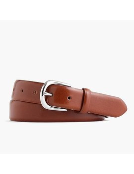 Leather Round Buckle Dress Belt by J.Crew
