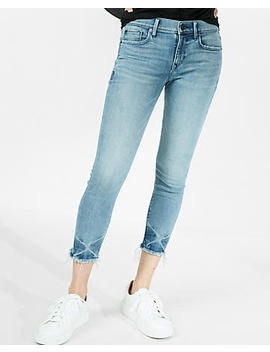 Petite Mid Rise Cropped Stretch Jean Leggings by Express