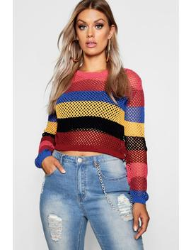 Plus Open Knit Cropped Jumper by Boohoo