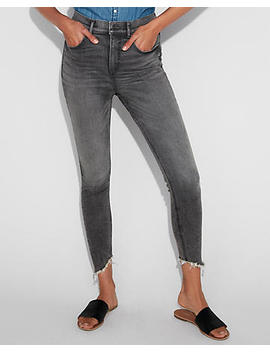 Super High Waisted Denim Perfect Stretch+ Ankle Leggings by Express