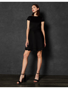 Scalloped Skater Dress by Ted Baker