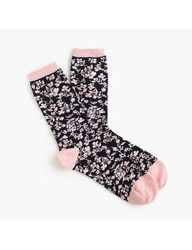 Trouser Socks In Tossed Florals by J.Crew