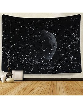 Astrology Decor Tapestry By Chengsan, Constellation Of Zodiac And Planets Original Collection Coordinates Of Celestial, Wall Hanging For Bedroom Living Room Dorm 79x59 Inches by Chengsan