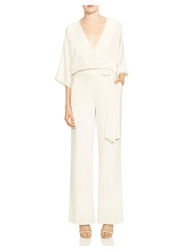 Crossover Wide Leg Jumpsuit by Halston Heritage