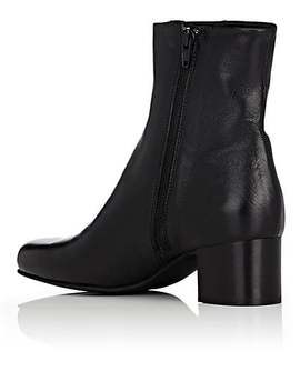 Leather Side Zip Ankle Boots by Barneys New York
