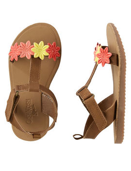 Osh Kosh Multi Flower Sandals by Oshkosh