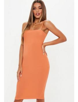 Robe Midi Caraco Orange Col Droit by Missguided